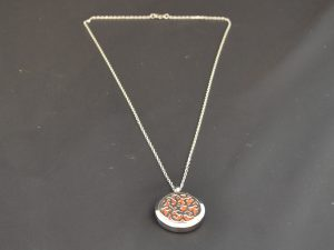 Aromatherapy Necklace Large - Floral (2)
