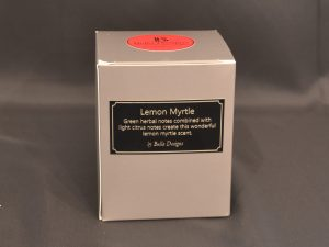 Aromatherapy Soy Candle - Lemon Myrtle packaging
