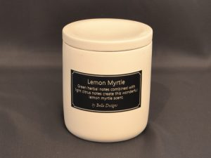 Aromatherapy Soy Candle - Lemon Myrtle with lid