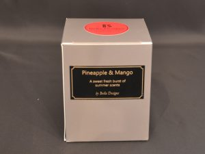 Aromatherapy Soy Candle - Pineapple and Mango 190ml Packaging