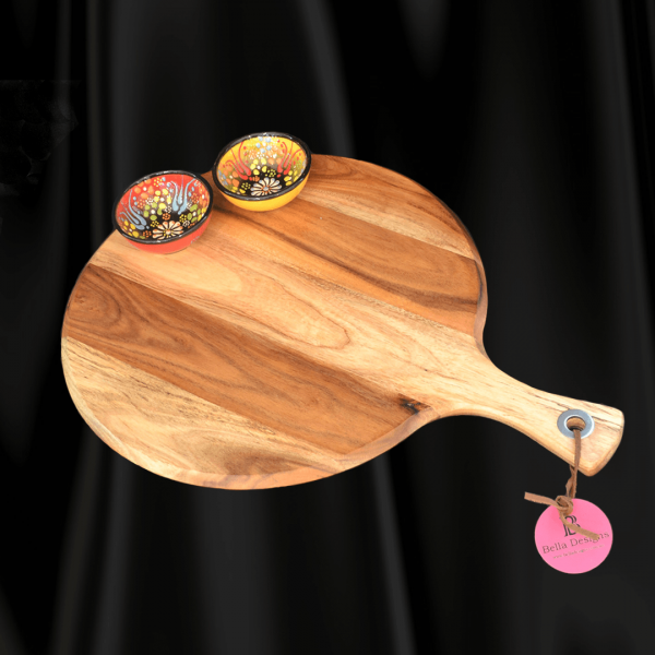 Chopping Board Set - Round with 2 x Small Turkish Bowl
